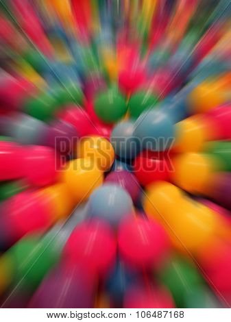 Abstract Background Of Colorful Balls.