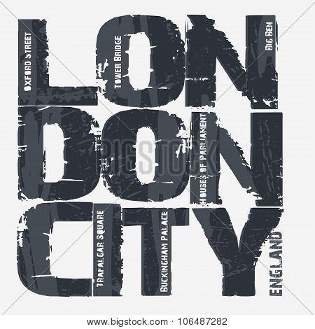 London city Typography design