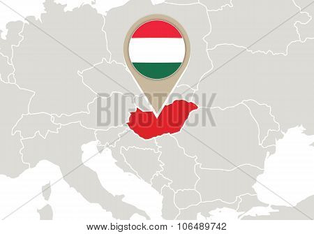 Hungary On Europe Map