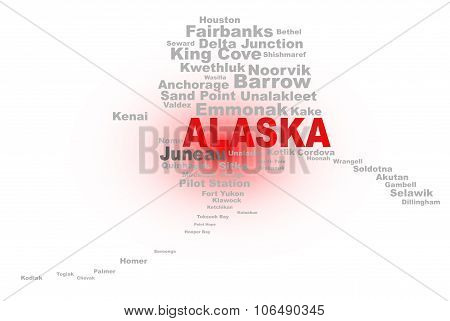 Alaska  State Word Cloud