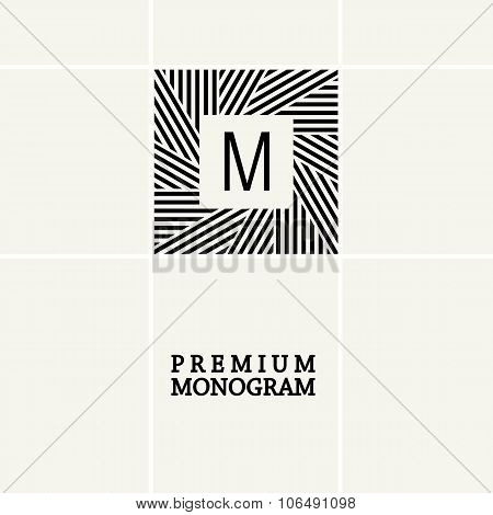 Stylish graceful monogram in Art Nouveau style