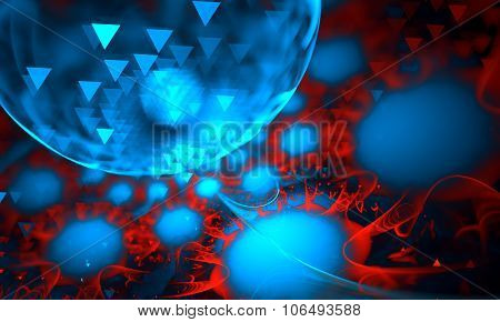 Abstract 3D Background From Multi-colored Full-spheres Of The Various Form
