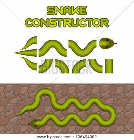 Green snake body elements