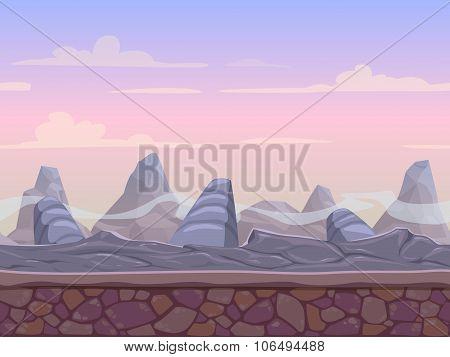Seamless stone desert landscape