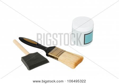 Paintpot And Painting Brushes