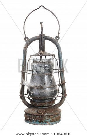 Old kerosene lamp.