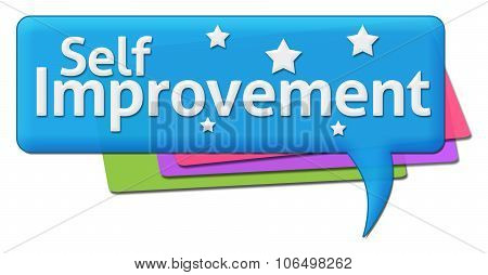 Self Improvement Colorful Comment Symbols