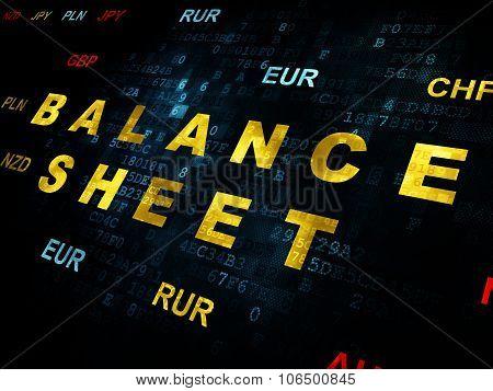 Money concept: Balance Sheet on Digital background
