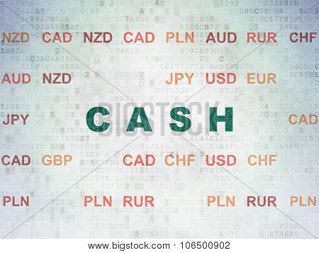 Currency concept: Cash on Digital Paper background
