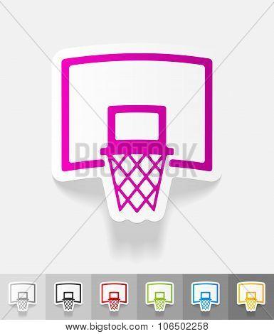 realistic design element. basketball hoop