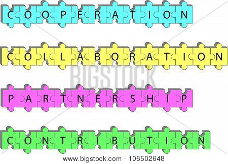 Partnership Concept Word Tags