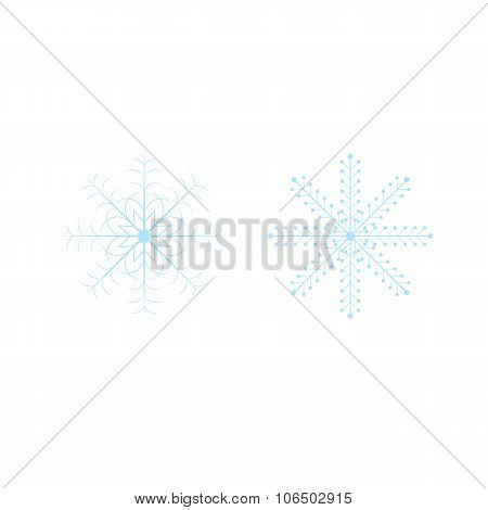 Openwork celebratory Christmas snowflakes in vector format