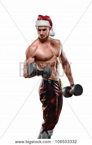 Muscular Handsome Sexy Santa Claus