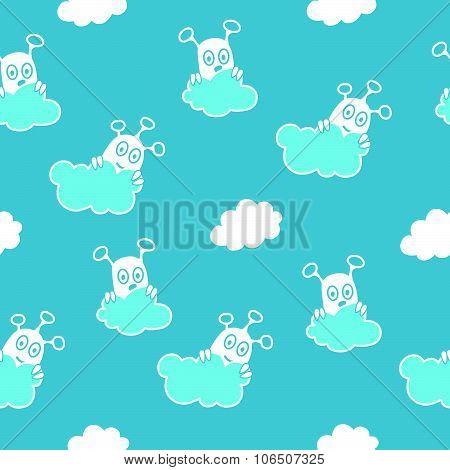 Blue sky aliens