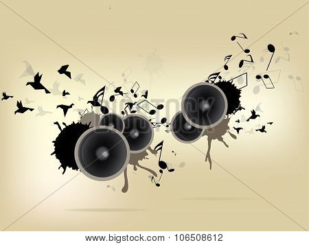 Abstract urban music background with grunge elements