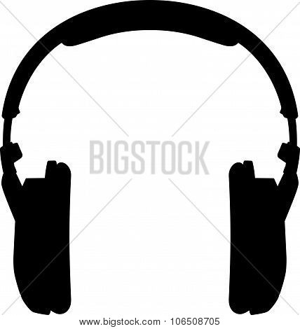 Headphones. Silhouette on a white background.