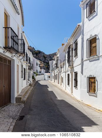 White Painted Hill Town Of Zuheros In Andalucia
