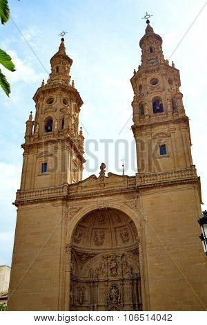 Logrono Cathedral of Santa Maria la Redonda in La Rioja way of saint james
