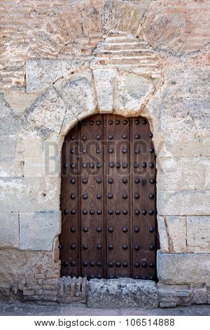 Solid Wooden Door And Doorway