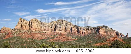 A View Of Sedona's Red Rocks Formations