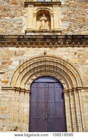 Villafranca del Bierzo by Way of Saint James San Francisco church in Leon Spain