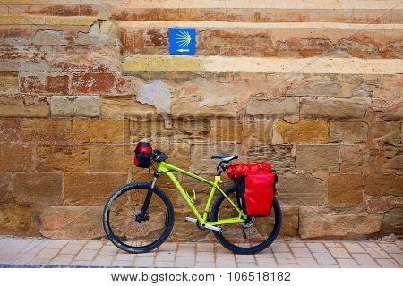 Navarrete bike in The Way of Saint James at La Rioja Spain