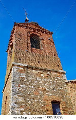 El burgo Ranero church by Saint James Way in Leon Spain
