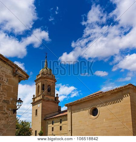 Granon church in The way of Saint James in La Rioja Logrono