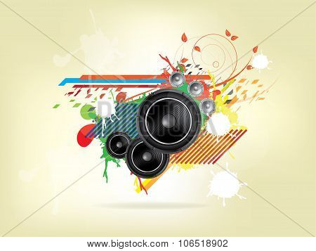 abstract music background with Sound Speaker. Abstract vector illustration with background.