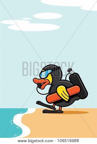 Duck Scuba Diving