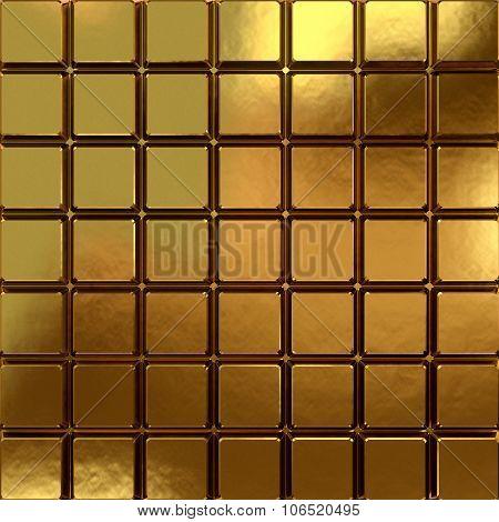 Golden Chocolate Block Background