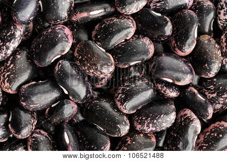 Raw Whole Colorful Black And Pink Beans Pattern