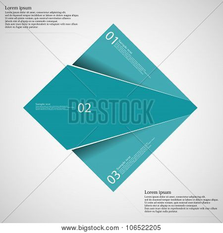 Rectangle Infographic Template Divided To Three Blue Parts