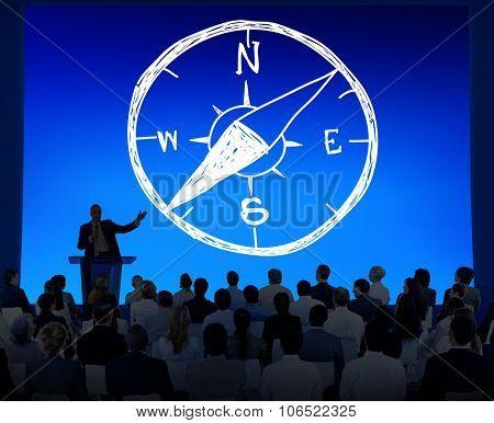 Compass Longitude Latitude Navigation Direction Adventure Concept