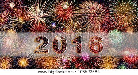 Festive Fireworks Happy New Year 2016
