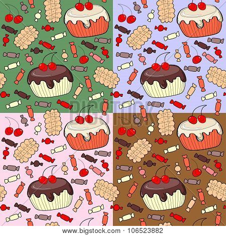 Seamless Pattern Of Confection