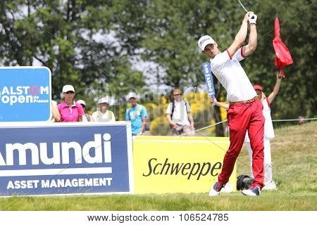 Victor Riu (fra) At  The Golf French Open 2015