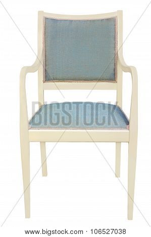Retro Style Chair Isolated On White.