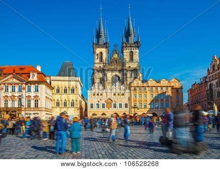 Church of our lady before tyn on Prague Czech republic. Illustration
