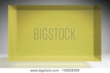Futuristic Cube Crystal Display Panel Yellow