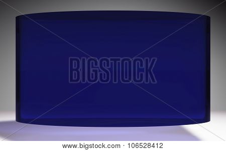 Futuristic Liquid Crystal Display Panel Blue
