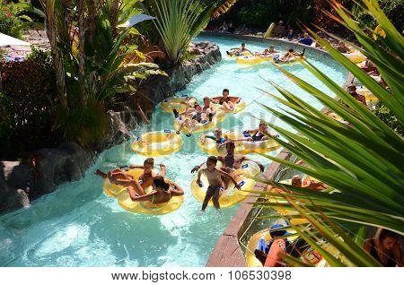 Mai Thai River in Siam Park on Tenerife, Spain