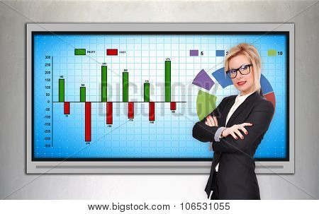 Woman And Chart