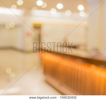 Blur Image Of Luxury Living Room