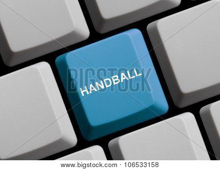 Blue Computer Keyboard: Handball