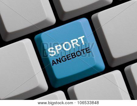 Blue Computer Keyboard: Sport Facilities German