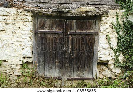 old rustic wooden door