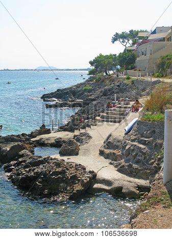 Rocky seaside resort