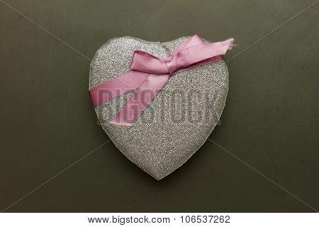 Glitter Heart Decor