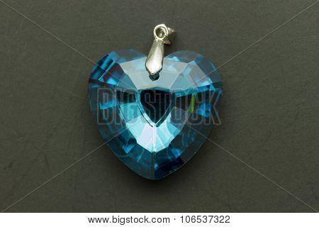 Blue Heart Gem